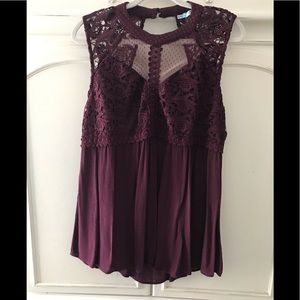 Maurice's lace tunic top XL
